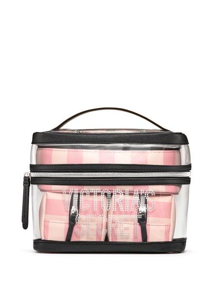 Набор косметичек VICTORIA'S SECRET Signature Stripe 4-in-1 Beauty Bag Set
