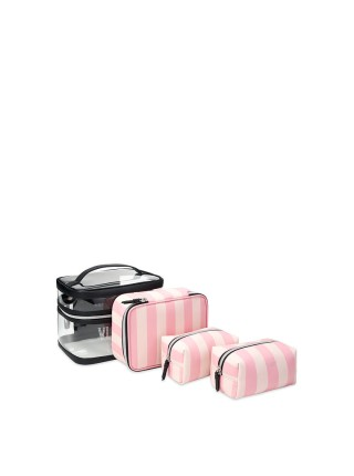 Набор косметичек VICTORIA'S SECRET Signature Stripe 4-in-1 Beauty Bag Set