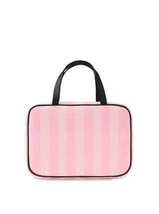 Косметичка Victoria's Secret  PINK Signature Stripe Jetsetter Travel Case