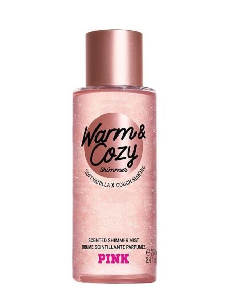 Спрей для тела Виктория Сикрет Pink Warm & Cozy Shimmer