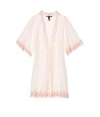 Халат с кружевомSheer Lace Kimono - Coconut White