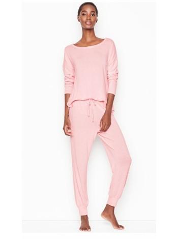 Пижама розовая Victoria's Secret PJ Set Long
