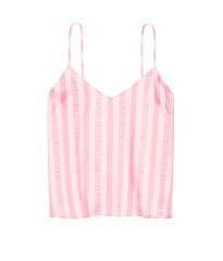 Сатиновая пижама Victoria's Secret в розовую полоску - S