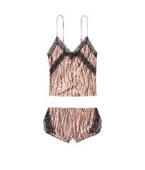 Сатиновая пижама Victoria's Secret Animal print