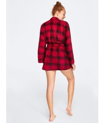 Халат PINK COZY PLUSH ROBE Red and Black Plaid