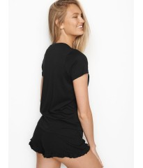 Шортики Victoria's Secret - Ribbed short Black