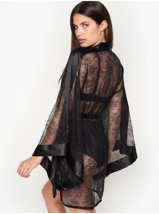 Халат VICTORIA'S SECRET SATIN lace dentelle