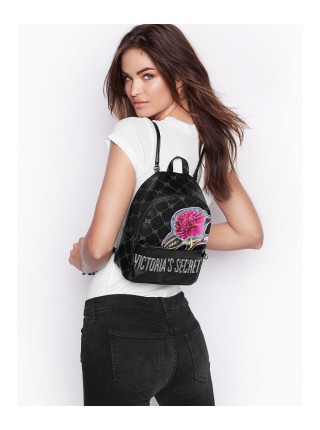 Рюкзак Victoria's Secret Monogram Small City Backpack Black
