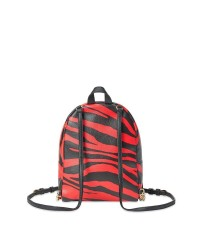 Рюкзак Victoria's Secret Red Zebra Print Small City Backpack