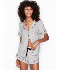 Пижама с шортиками Victoria's Secret Supersoft серая
