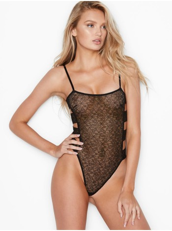 Боди Victoria's Secret Floral Embroidered Banded Teddy
