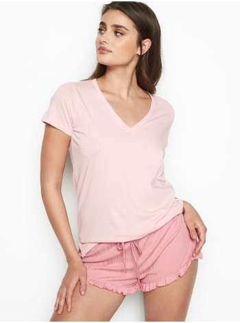Пижамка VICTORIA'S SECRET - V-neck Tee Rose Luster Short