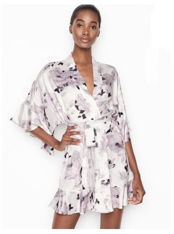 Халат Victoria's Secret Satin Print Roses