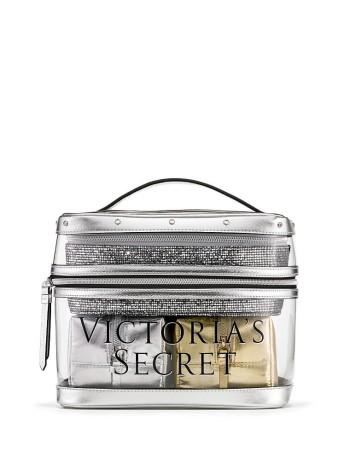 4 в 1 VICTORIA'S SECRET Metallic Sparkle Train case