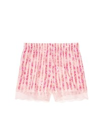 Пижама Victoria's Secret Cotton Short Cami PJ SetPink Stripes Flower print