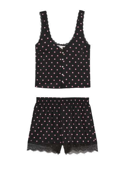 Пижама Victoria's Secret Cotton Short Cami PJ SetPink Dot & Lace
