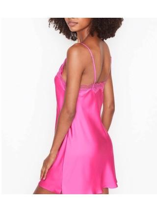 Пеньюар Victoria's Secret Satin Slip Lace Fuchsia