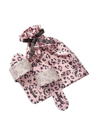 Домашние тапочки Victoria's Secret Pink Leopard Slippers Velvet Rhinestones Slides
