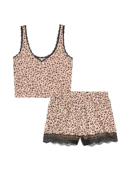 Пижама Victoria's Secret Cotton Short Cami PJ SetLeopard print