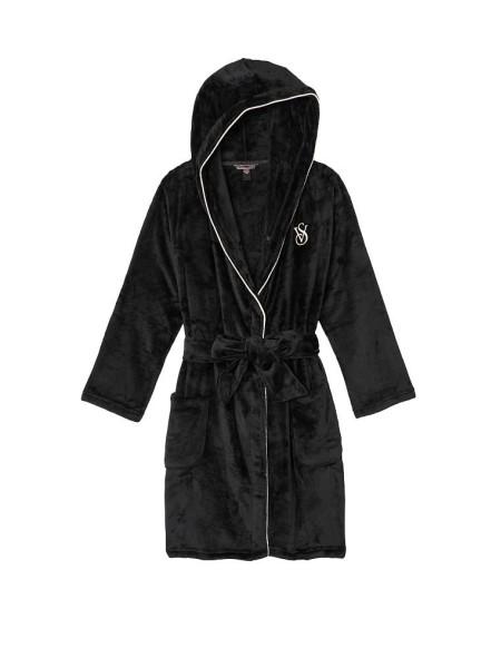 Халат Hooded Short Cozy Robe Black