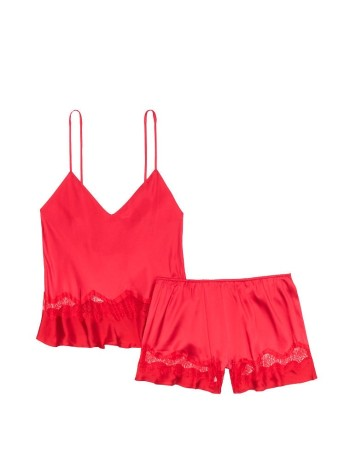 Пижама Victoria's Secret Red Lace Cami PJ Set