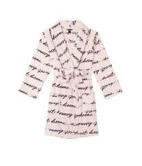 Халат Victoria's Secret Logo Short Cozy Robe Sweet Dreams Stripe