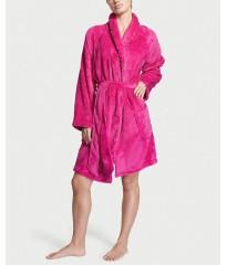 Халат Victoria's Secret Logo Short Cozy Fluo Pink