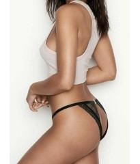 Трусики VS Very Sexy Black Lace V logo Brazilian panty