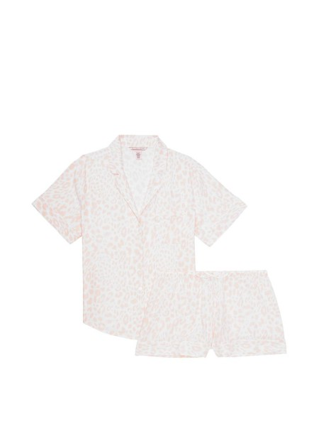 Пижама Cotton Printed Short PJ SetPink leopard