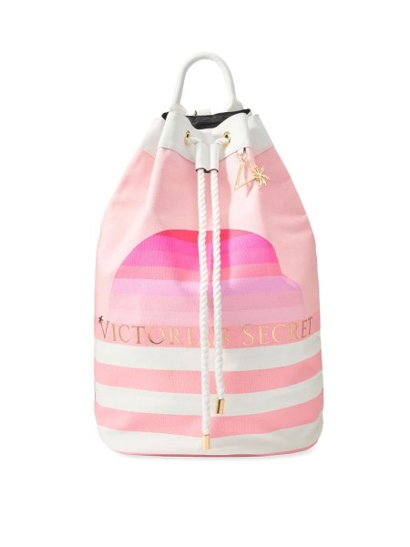 Рюкзак - сумка для пляжа VICTORIAS SECRET STRIPED CINCH BACKPACK