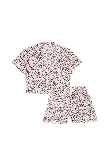 Пижама Cotton Printed Short PJ SetPink Leopard Hearts