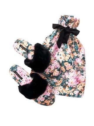 Домашние тапочки Victoria's Secret SLIPPERS  floral prin