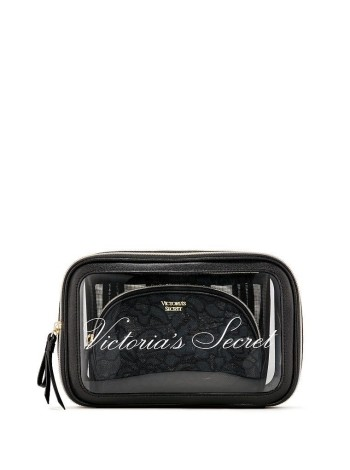 3 в 1 косметичка Victoria's Secret Beauty Bag Trio VS Black Lace