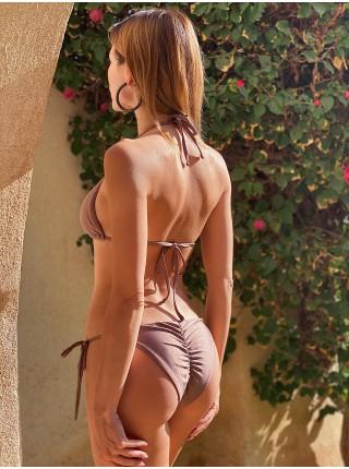 Бронзовый купальник треугольники Twishi Rings&Straps