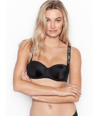 Бюстгальтер Victoria's Secret Lux bra BALCONETTE BLACK Embellished Straps Lined
