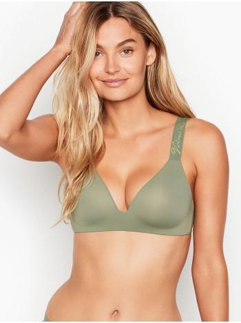 Бюстгальтер Victoria's Secret Logo Bra Lightly Lined Wireless Green Soutien-Gorgesans