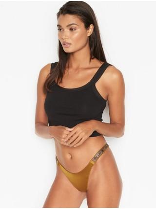 Трусики Victoria's Secret Very Sexy Crystal Logo Shine StrapBrazilian Panty Bronzed Olive