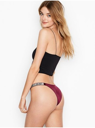 Трусики Victoria's Secret Very Sexy Crystal Logo Shine StrapBrazilian Panty Kir