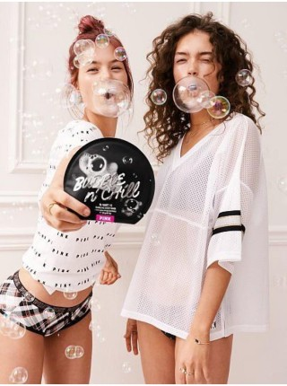 Маска для лица Victoria's Secret PINK Bubble & Chill Charcoal Bubbling Sheet Mask