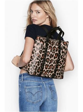 Рюкзак Victoria's Secret Studded Convertible Backpack Animal Print - Leopard