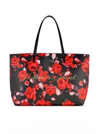 Beach ToteVictoria's Secret print red roses