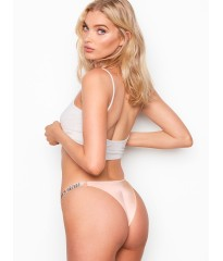 Трусики Victoria's Secret Very Sexy Crystal Logo Shine Strap Brazilian Panty Champagne