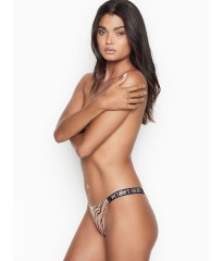 Трусики Victoria's Secret Very Sexy Crystal Logo Shine Strap Brazilian Panty Animal print