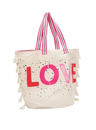 Пляжная сумка Victoria's Secret Beach Tote LOVE