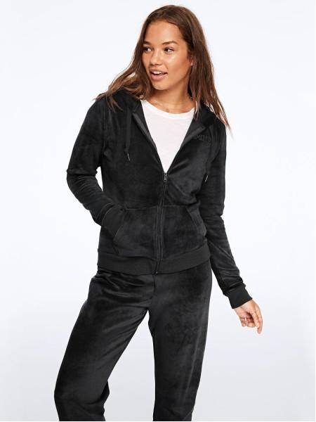 Спортивный костюм Victoria's Secret SPORT PINK Velour Pure Black