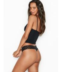 Трусики стринги Victoria's Secret Black Lace Thong panty