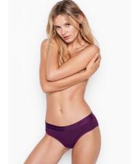 Фиолетовые трусики Victoria's Secret Hiphugger, хипхагеры с резинкой лого Виктория Сикрет