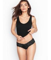 Трусики Victoria's Secret Very Sexy Cheeky черные с кружевом