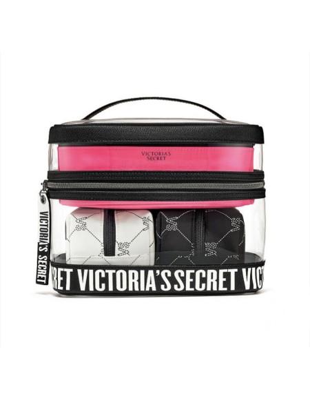 VS Monogram 4-in-1 Beauty Bag set Набор косметичек Victoria's Secret