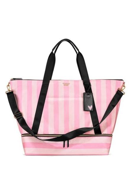 Сумка Victoria's Secret Signature Stripes Weekender Travel Bag